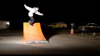 Extremely Fun Night Skateboarding! First Kickflip Back 5050! Home Made Quarter Pipe! More