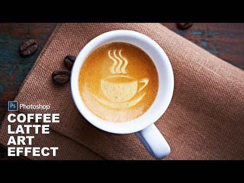 Photoshop Tutorial: Coffee Latte Art Effect - Mockup Photo Manipulation