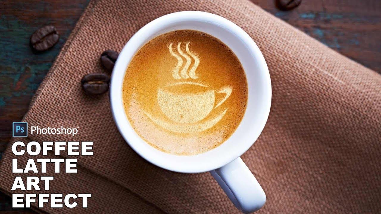 Photoshop Tutorial: Coffee Latte Art Effect - Mockup Photo Manipulation