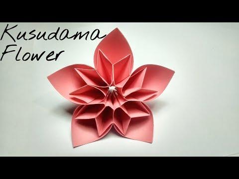 How to make Kusudama Paper Flower    Kusudama flower tutorial for beginners