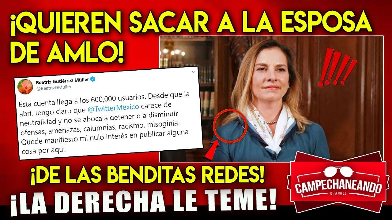 ¡AHORA MISMO! OPOSITORES A AMLO QUIEREN DESAPARECER DE REDES A SU ESPOSA BEATRIZ GUTIERREZ ¡LE TEMEN