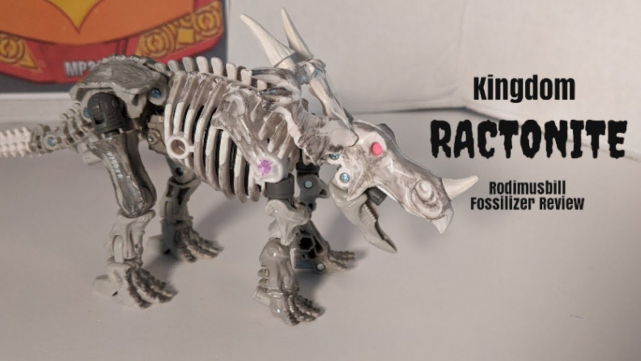 Kingdom Fossilizer Ractonite Deluxe WFC Figure Review by Rodimusbill