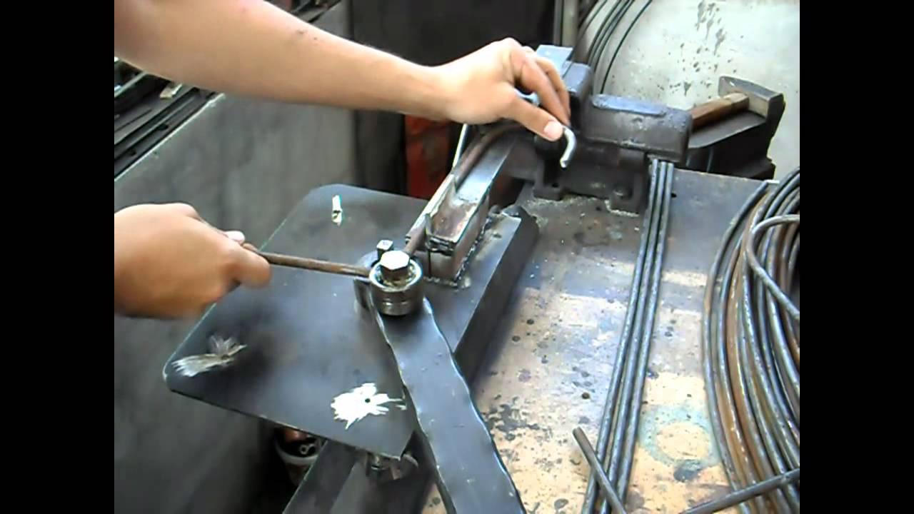 Homemade Metal Rod Bender Youtube