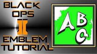 Call of Duty Black Ops 2 : Graffiti Writing Emblem Tutorial (Letters ABC)