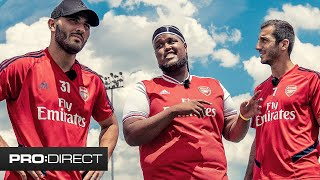 CHUNKZ vs MKHITARYAN & KOLASINAC - ARSENAL TOUR TRIALS PART 1