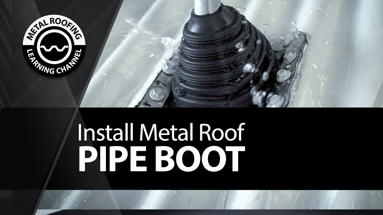 Install Pipe Boot Metal Roof. EASY Video Corrugated Pipe