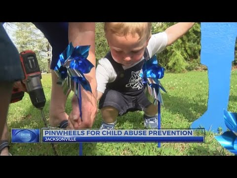 Community helps plant Pinwheel Garden at Jacksonville event