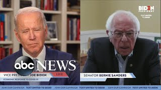 In a surprise appearance on campaign livestream, vermont sen. bernie sanders endorsed former vice president joe biden for the democratic presidential nomin...