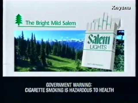1990 - Salem Lights Cigarette