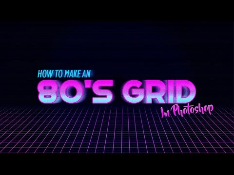 How To Make An 80's Grid In Photoshop!