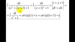 Интегралы | метод подстановки | рациональные дроби | простейшие примеры | часть 1