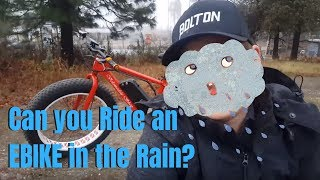 Can you ride an Ebike in the Rain?  Wet weather tricks and one thing to NEVER do!