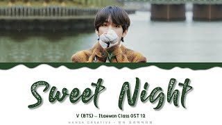 Gambar cover V (BTS) - 'Sweet Night' (Itaewon Class OST 12) Lyrics Color Coded (Eng)