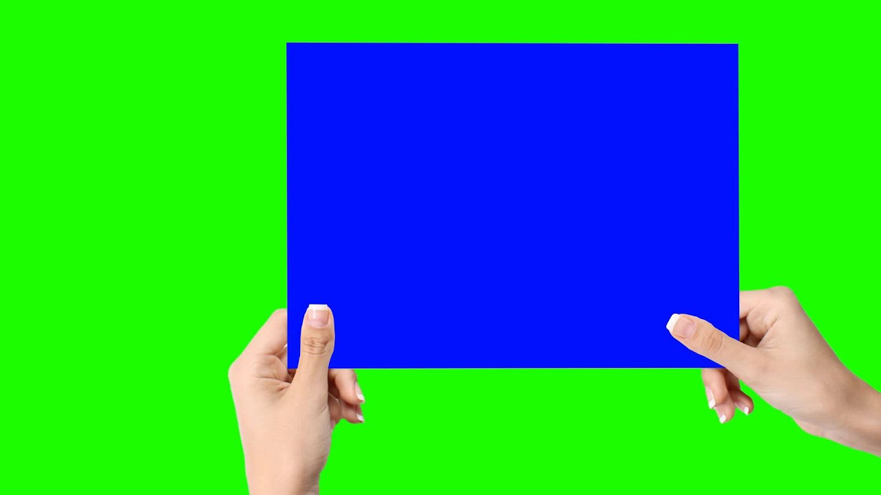 Creative Hand Paper In Green Screen Free Stock Footage