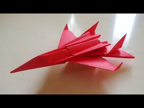 Cara Membuat Pesawat Jet-Mainan Anak :Origami Jet Plane For Kids