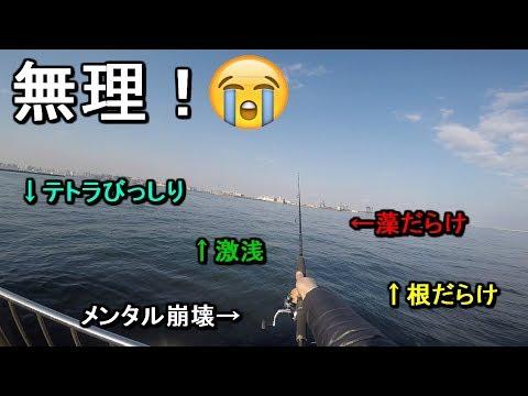 【城南島海浜公園】上級者向け!?水深が浅い根だらけの釣り場の攻略に挑戦!【2019.03.01】