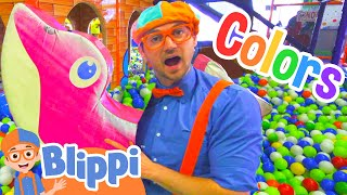 Learn Colors and Learn Shapes with Blippi | Educational Indoor Play Place thumbnail