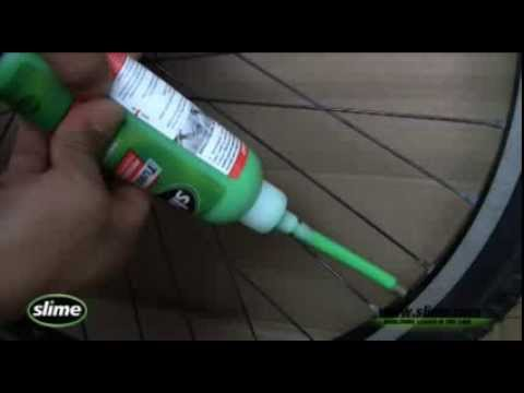 How To Install Slime In Your Bike Tires Youtube