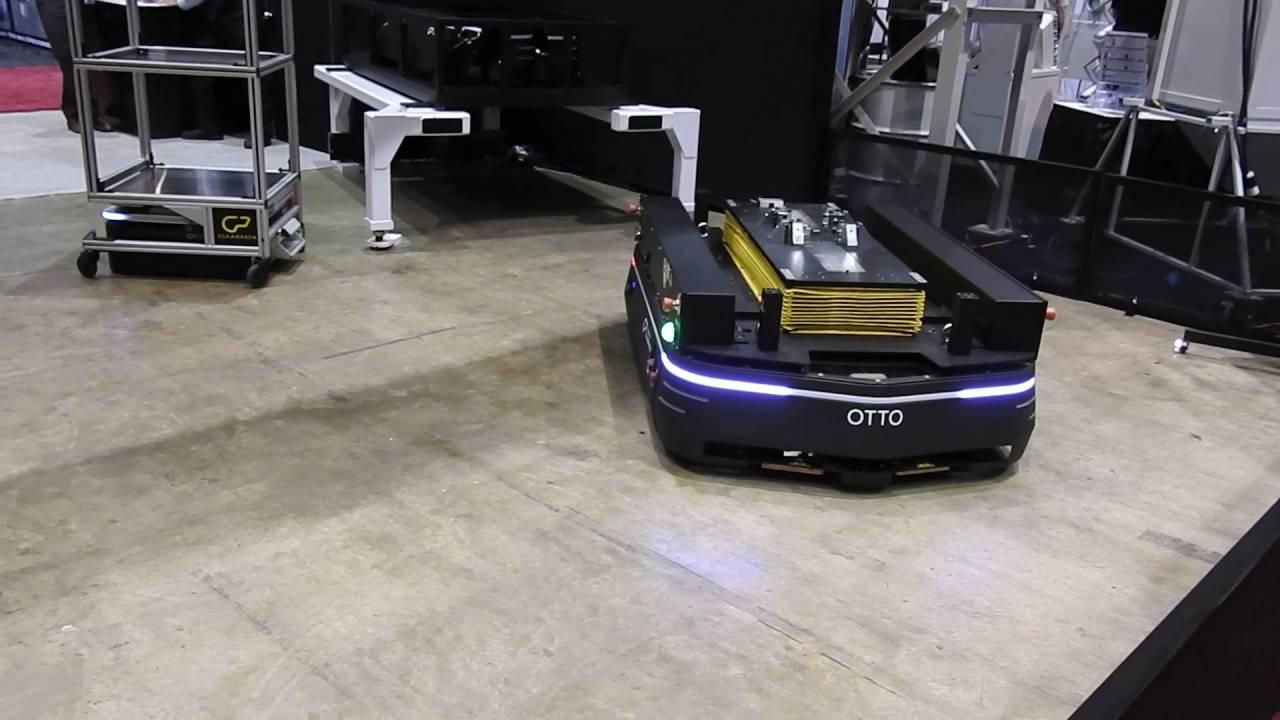IMTS show: Otto motors: MEGA ROOMBAs and moving shelves