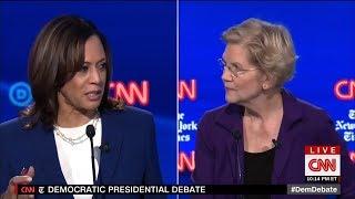 Kamala Harris Awkwardly Prods Warren To Support Trump Twitter Ban