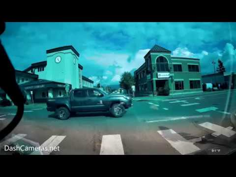 Veckle Mini 0906 Dual Dash Cam (Cloudy Overcast Day)