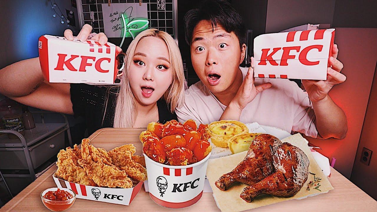 КОРЕЙСКАЯ ЕДА В KFC?! Куриная Кожа, Желудки, Токпокки! Мукбанг