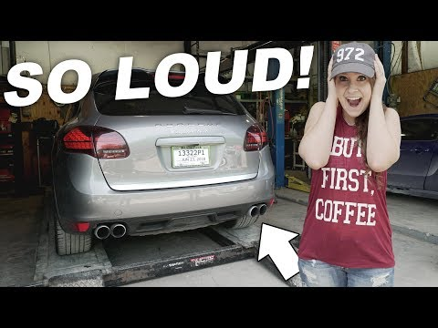 STRAIGHT PIPING THE PORSCHE CAYENNE TURBO! (too loud?)