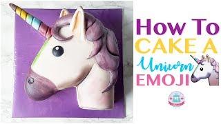 HOW TO CAKE A UNICORN EMOJI | Abbyliciousz The Cake Boutique