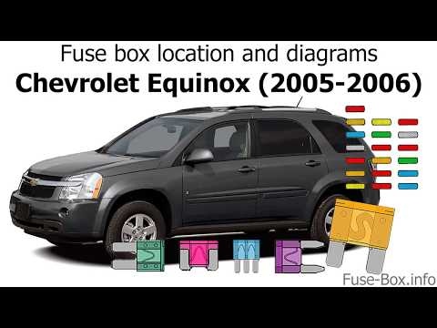 [DIAGRAM_1JK]  Fuse box location and diagrams: Chevrolet Equinox (2005-2006) - YouTube | 05 Equinox Fuse Diagram |  | YouTube