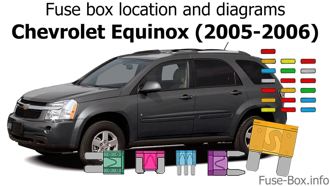 hight resolution of fuse box location and diagrams chevrolet equinox 2005 2006 youtube 2005 chevy equinox fuse box cover 2005 equinox fuse box