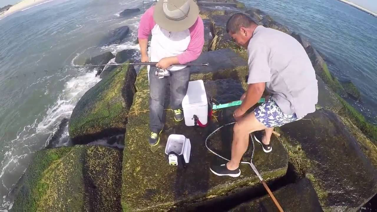 fishing at indian river inlet youtube