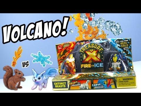 Treasure X Fire Vs Ice Volcano - What Did I Erupt? Moose Toys