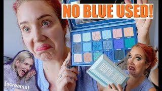 JEFFREE WON'T LIKE THIS! Natural BLUE BLOOD tutorial NO BLUE USED! Review, Swatches & Tutorial!