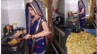 ससुराल से कौन आए हैं 💁🤔आज सर में पल्ला लेकर घूम रही हूं moong daal laddu recipe