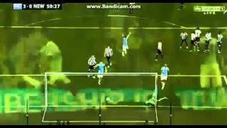 Yaya Toure Amazing Free Kick Goal (Manchester City 3-0 Newcastle) 19-08-2013