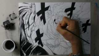 Speed drawing Laxus vs Hades -Fairy Tail-