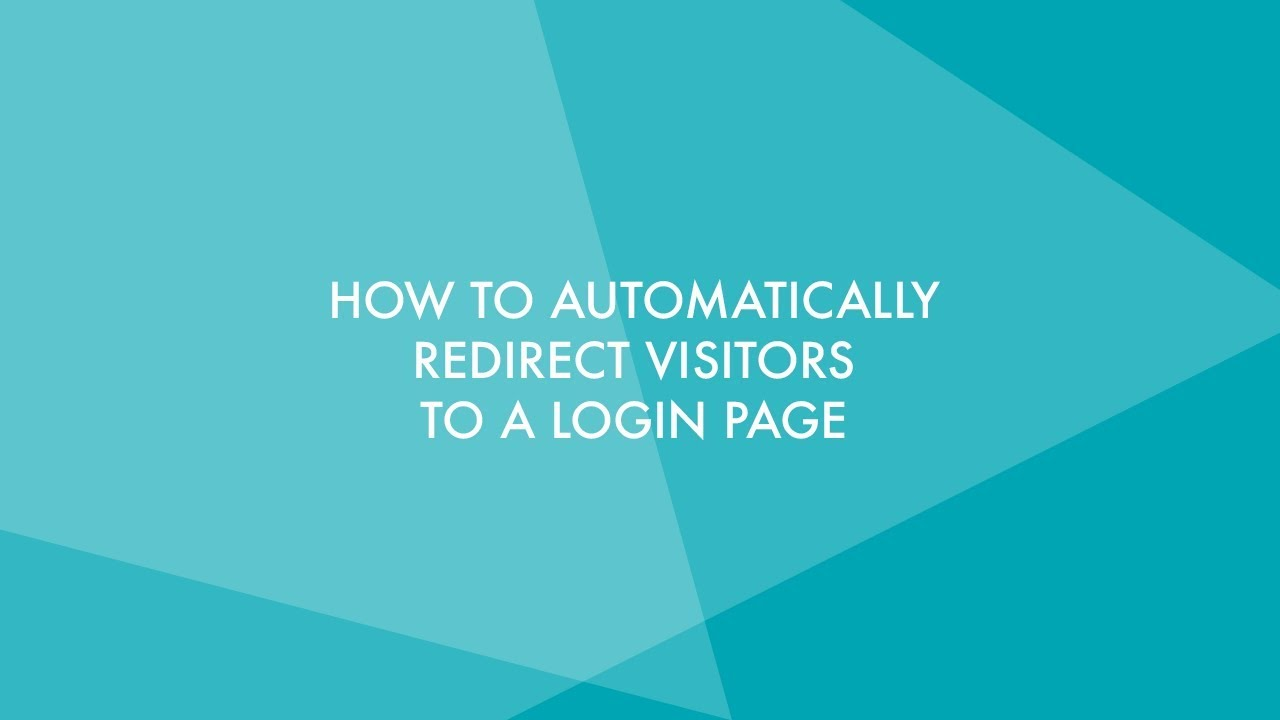 How to Automatically Redirect Visitors to a WordPress Login Page