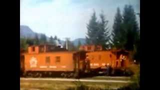 Steam trains on the CNR Cowichan Subdivision in the late 50s or early 60s