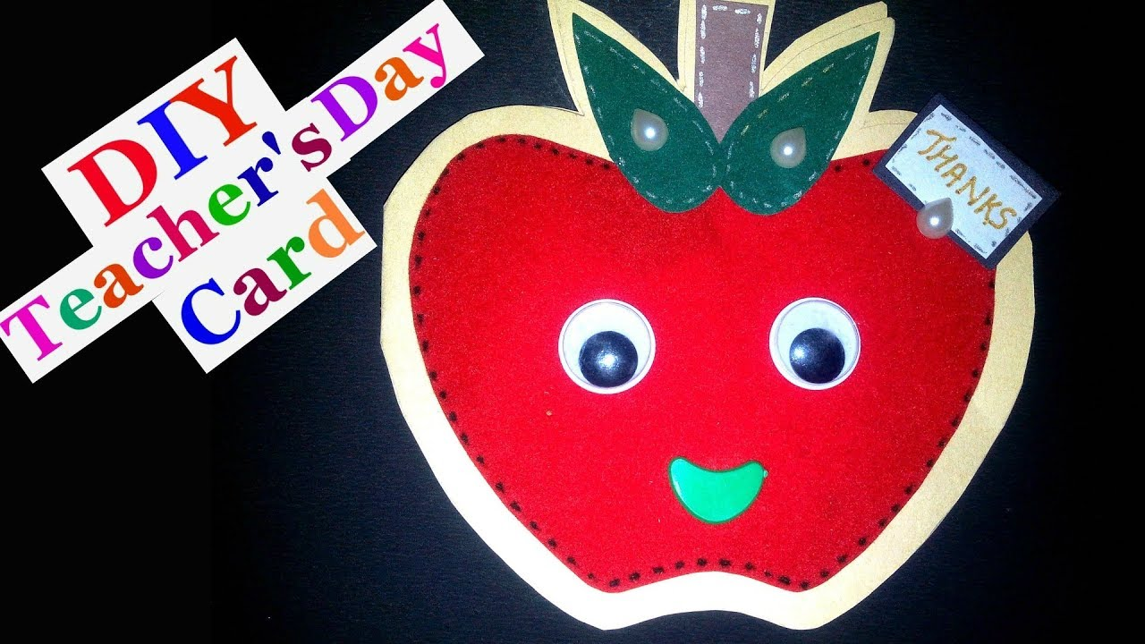 Teachers day card making ideas for kids | How to make ...