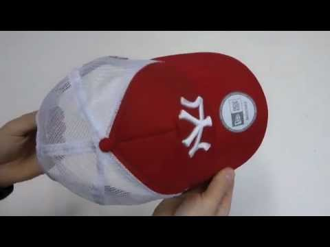 aliexpress super popular closer at NEW ERA CLEAN TRUCKER NY SCARLET WHITE - YouTube