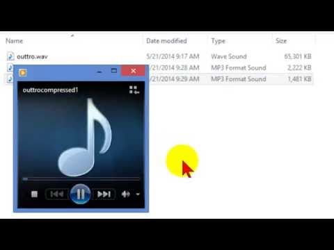Compress audio file to reduce file size and optimize for web
