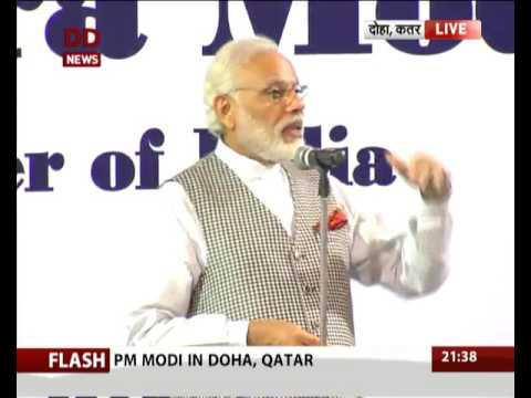 PM Narendra Modi addresses Indian workers at Doha, Qatar