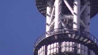 20110805 ☆610m付近デッキ作業、塔内階段570m付近とゲイン塔最...