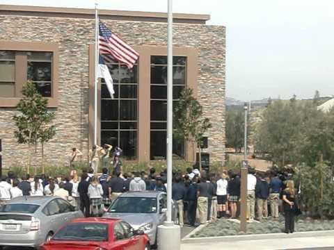 Crean Lutheran High School American and Christian Flag Dedication