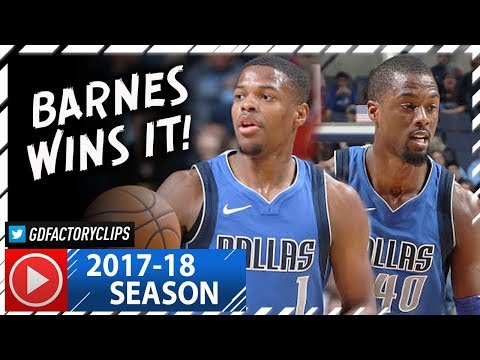 Harrison Barnes 22 Pts & Dennis Smith Jr. 17 Pts Full Highlights vs Grizzlies (2017.11.22) - SICK!