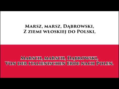 Polnische Hymne - Anthem of Poland (PL/DE Text)