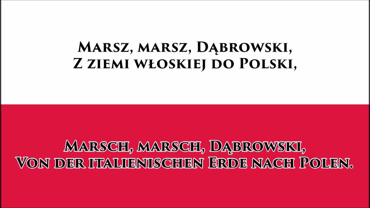 Polnische Weihnachtslieder Texte.Polnische Hymne Anthem Of Poland Pl De Text