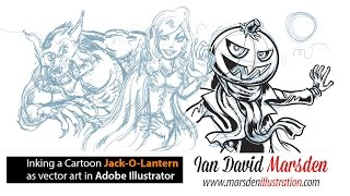 Drawing Tutorial: Jack-O-Lantern Halloween Cartoon in Adobe Illustrator