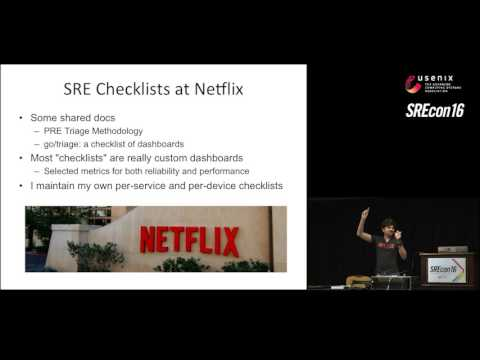 SREcon16 - Performance Checklists for SREs