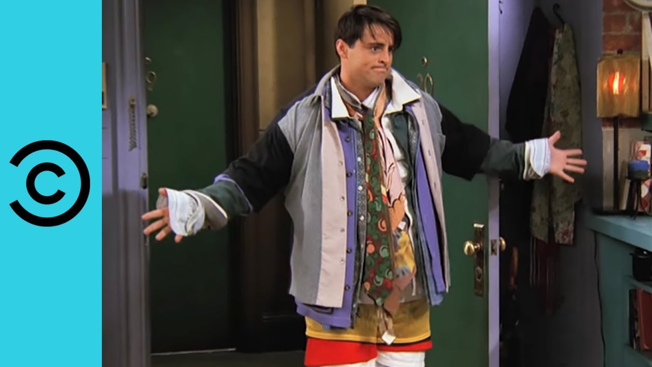 Joey Wears All Of Chandler's Clothes | Friends